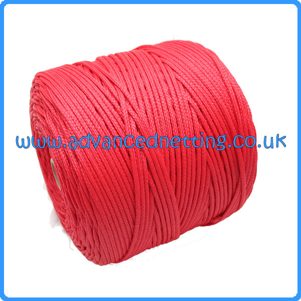 3mm Red Braided PE Twine (2 kilo Spool)