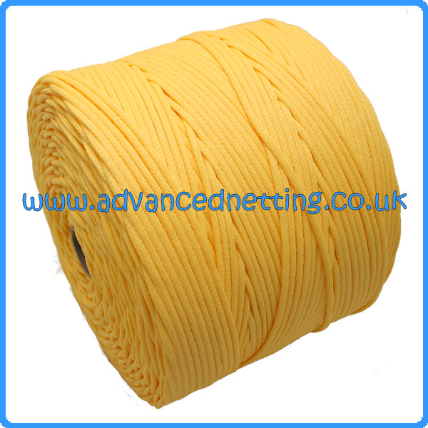 3mm Yellow Braided PE Twine (2 kilo Spool)