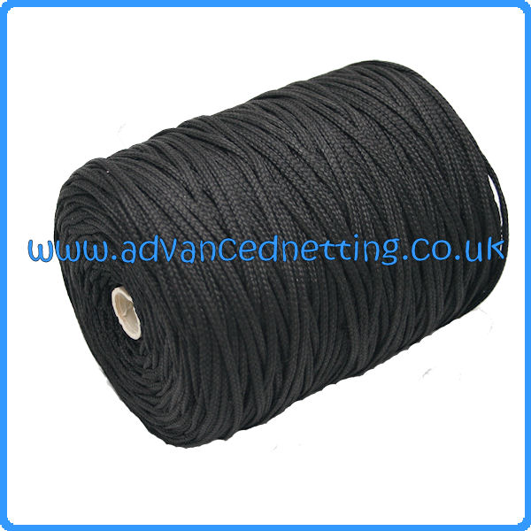 3mm Black Braided Multifiliment PP (1 KG Spool)