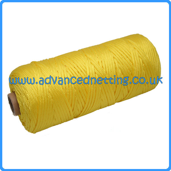 2mm Yellow Braided Multifiliment PP (1 KG Spool)