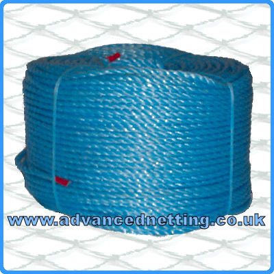 8mm Blue Twisted Splitfilm Rope 220m coil