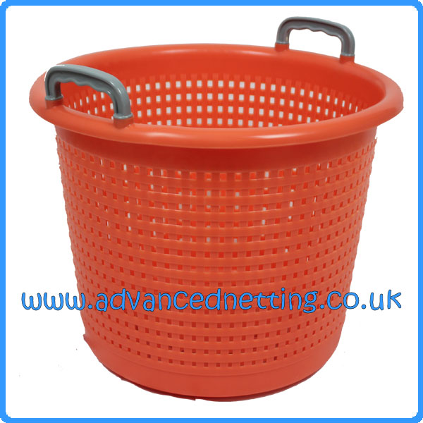 Orange Plastic 58ltr Fish Basket