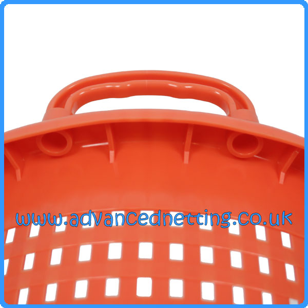 10 x Orange Plastic 44ltr Fish Basket with Moulded Handles