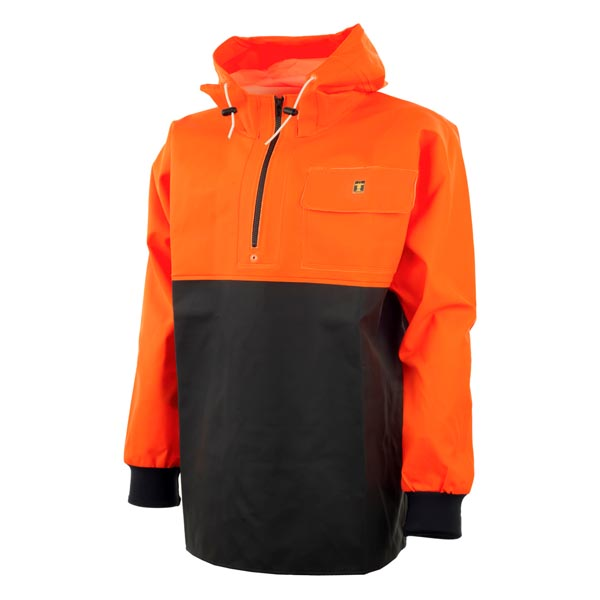 Chinook Smock BLACK/FLURO ORANGE- Size:02) Medium