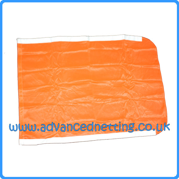 Large Orange Dhan Flag with Reflective Strips