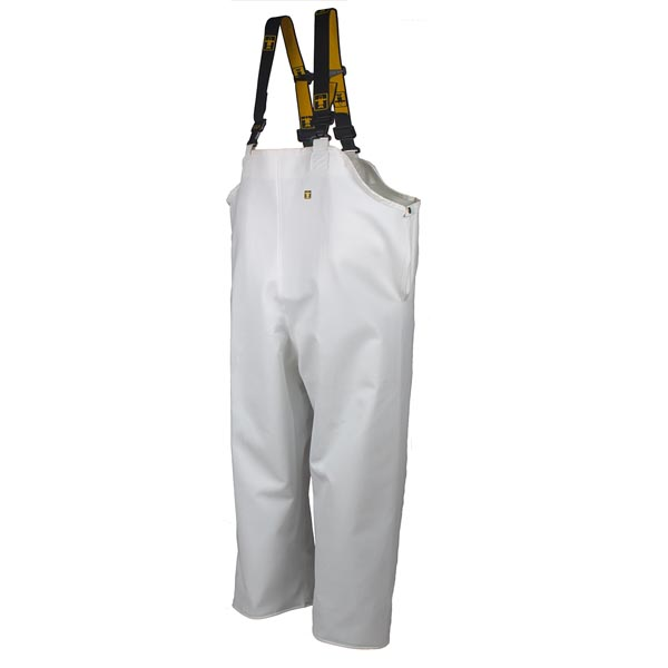 Guy Cotten Hitra Bib & Brace Trousers - Colour: White - Size 03) Large