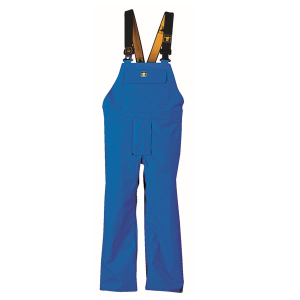 Heavy Duty Bib & Brace Trousers - Colour: Blue - Size 03) Large