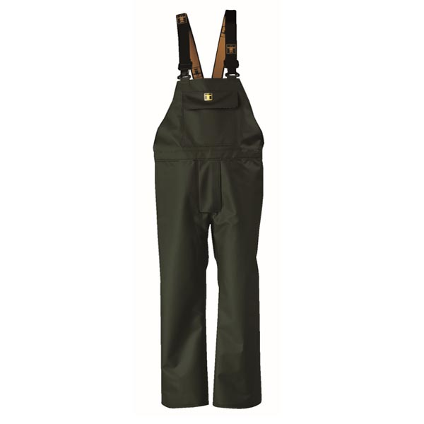 Heavy Duty Bib & Brace Trousers - Colour: Green - Size 03) Large