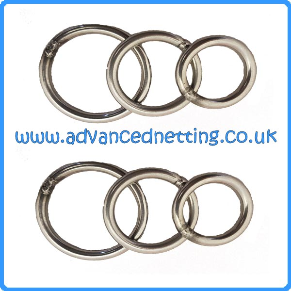 20mm ID Stainless Steel Purse Rings (20 Pack)
