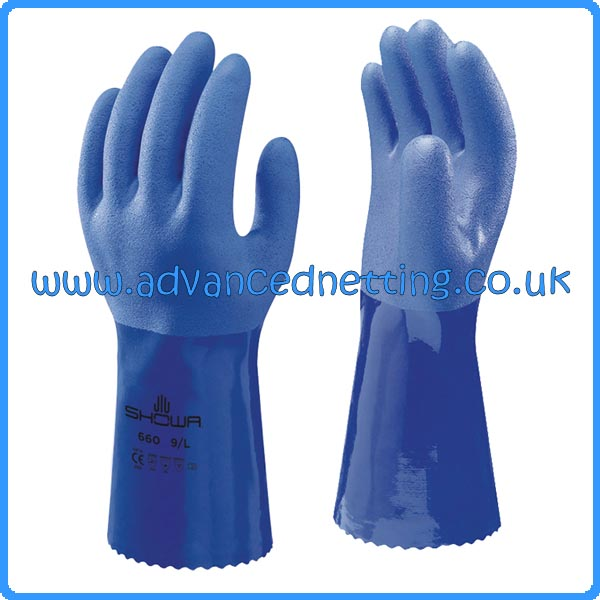 Showa 660 PCV Gloves - Size: 10/X Large Sold in Packs of 10