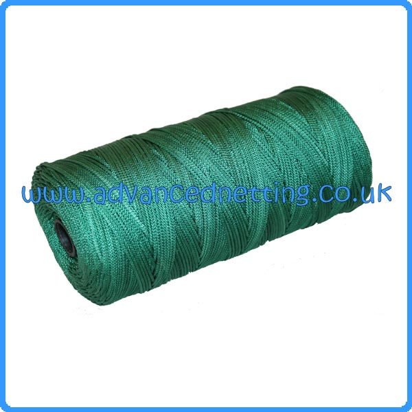 0.75mm (210/4x8) Green Braided Nylon Twine (1/2 kilo spool)