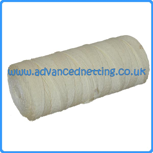 0.75mm (210/4x8) White Braided Nylon Twine (1/2 kilo spool)