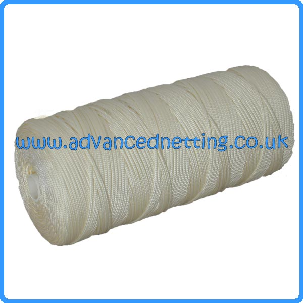 1.5mm (210/4x16) Soft White Braided Nylon (1kg Spool)