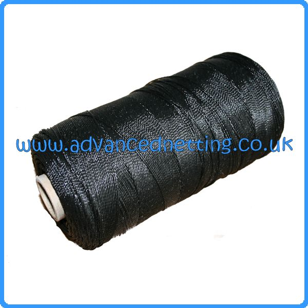 400D/12 Black Twisted PE Twine (250g Spool)