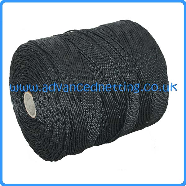 10/27 Black Twisted PE Twine (1 kilo Spools)