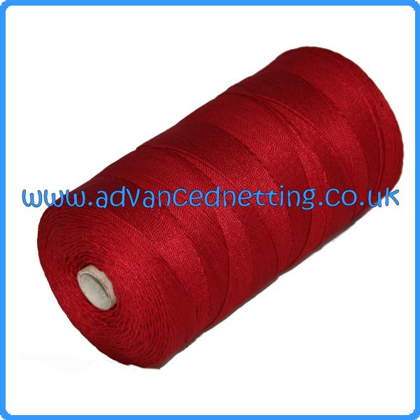 210/18 (6z) Red Twisted Nylon (500g Spools)
