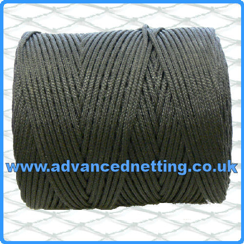 3mm Black Braided PE Twine (2 kilo Spool)