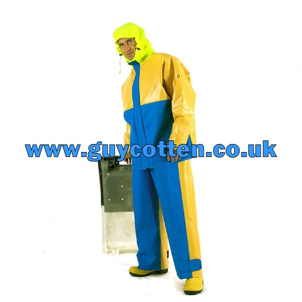 X Trapper Bib & Brace Trousers - Colour: Yellow/Blue - Size 04) X Large